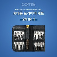 Coms 공구 드라이버세트 / 정밀 드라이버 / 24 IN 1 / 휴대용 포켓