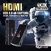 Coms HDMI 캡쳐(USB 2.0), UHD 4K2K 입력지원, 1080P@60Hz 출력, MIC 입력, 오디오 연결(출력)