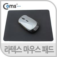 Coms 마우스 패드(라텍스 재질), 블랙
