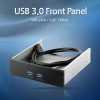 Coms USB 포트 3.0, 전면 가이드(2Port), 80cm
